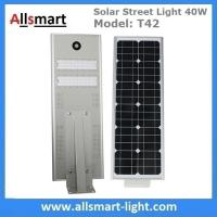 40W All in One Solar Street Lights Integrated Solar LED Street Light Motion Sensor Solar Lights Outdoor Driveway Lights Manufactures
