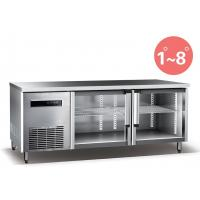 Refrigerated Work Table For Kitchen 660L Commercial Refrigerator Freezer R134a Fan Cooling Manufactures
