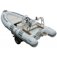 Hand Made FRP Inflatable RIB Boats , Deep - V Fiberglass Hull Inflatable Fishing Dinghy Manufactures