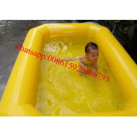 double tubes pvc tarpaulin inflatable kids swimming pool for sale Manufactures