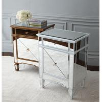 Popular Silver Mirrored Bedside Tables, Durable Mirrored Dresser And Nightstand Set Manufactures