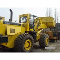 Quality 260.2HP Komatsu WA470 Second Hand Wheel Loaders , Used Compact Track Loaders for sale