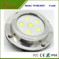 6X1W Optional Green,Blue or White Marine Boat LED Underwater Surface Mount Dome LED light Manufactures