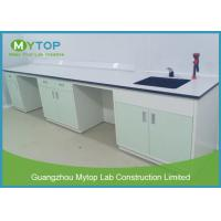Galvanized Steel Hospital Lab Furniture , Laboratory Benches And Cabinets Manufactures