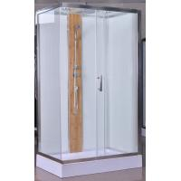 1200x800x2150mm Luxury Corner Shower Stalls , Rectangular  Shower Cabin with bamboo Manufactures