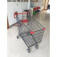 Steel Supermarket Shopping Carts / Buggy Zinc Plated Clear Powder PPG Coating Manufactures