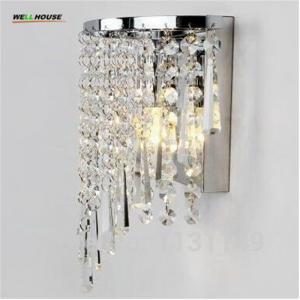 Modern Crystal led Wall Light home lighting sconce arandela de parede bedroom bathroom mirror wall lights for home free Manufactures