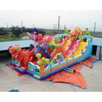 Quality Cheap Kids Big Dinosaur Playground Giant Inflatable Bouncer Castle House With for sale