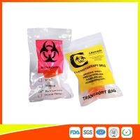 Zip Lock Plastic Biohazard Specimen Bags / Vaccine Transport Bags Waterproof Manufactures