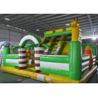 Quality PVC Animal Inflatable Bouncy Castle Bed , Blow Up Kids Water Slide for sale