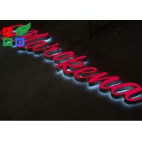 Quality Wall Mounting Custom Channel Letter Signs , Colorful Visible LED Outdoor Lighted Letters for sale