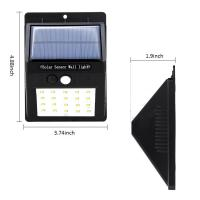 Quality 20LED Triangle PIR Solar Sensor Motion Wall Light Fixture Outdoor Wall Mounted Lantern Porch Lamp China Manufacturer for sale