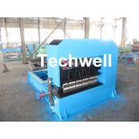 0-10M / Min Cold Roll Forming Equipment , Roof Sheet Making Machine 500mm Curving Radius Manufactures