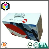Plastic Handle Matte Color Print Corrugated Cardboard Carton Packaging Box Manufactures