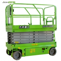 Green Hydraulic 10m height aerial work platform 320kg capacity scissor lift for maintenace Manufactures