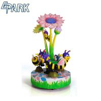 Game Machine Exhibition Amusement Rotation Bees Shape Carousel Ride Manufactures