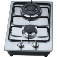 Fashion Stainless Steel 2 Burner Gas Hob / Kitchen Gas Cooktop 30cm Built In Manufactures