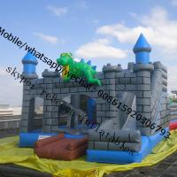 inflatable bouncy castle with water slide inflatable dinasour castle Manufactures