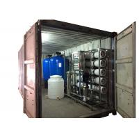 Reverse Osmosis RO Water Treatment System With Blue FRP Tank Sand Filter / Carbon Filter Manufactures