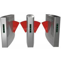 Stainless Steel Architectural Flap Barrier Turnstile Half Height For Security Manufactures