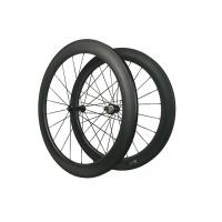 700C Toray 700 Carbon Road Bike Wheels 60MM 23MM Width For Straight Pull R36 Hub Manufactures