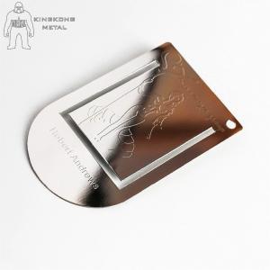 China Color Printed  Engraved Metal Bookmarks For Men  Promotional  Gift Logo Engraved on sale