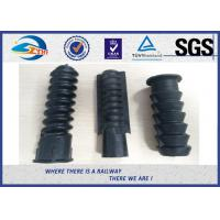 Black Plastic And Rubber Part Railway HDPE And PA66 Dowel For Screw Manufactures