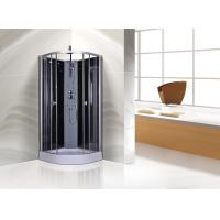 Circle Grey Quadrant Shower Cubicles 900 X 900 X 2250 MM ABS Tray Chrome Profiles Manufactures