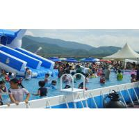 PVC Stent Family Pool Removable Small Frame Inflatable Swimming Pool With Bumper Boat Manufactures