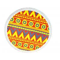 Custom Personal Design Round Beach Towels For Promotion , Eco - Friendly Manufactures