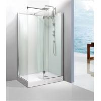 Quality 0.477 CBM / Set Square Shower Cabin 1200 Hinged Shower Door With Frame for sale