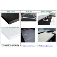 Buy cheap Starlight Black White big slab 20mm quartz stone surface from wholesalers