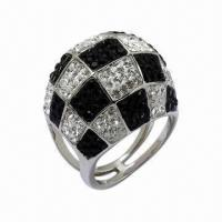 Ring with Swarovski Jewelry, Sterling Silver Ring with Crystal Manufactures