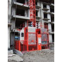 Double Cage 3.2×1.5×2.5m Construction Lift Heavy Lifting Equipment Manufactures