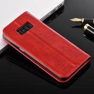 Samsung S8 Magnetic Leather Case Crazy Horse Side Flip Wallet Case 75g Manufactures