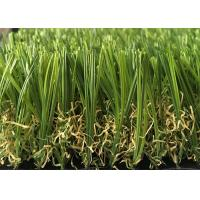 China Soft Durable Outdoor Artificial Grass Lawns S Shaped 20mm - 45mm Pile Height on sale