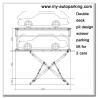 Scissor Type Underground Garage Lift Car Lift for Basement Car Stack Underground Car Lift Price Manufactures