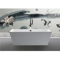 Quality Clear Luxury Square Freestanding Bathtub Rectangular Corner Tub Pure Color for sale