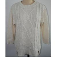 Breathable Oversized Knit Sweaters White With 5gg Big Gauge Knitting Patterns Manufactures