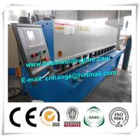 QC12Y Swing Hydraulic Shearing Machine For Steel Plate , Hydraulic Shear Cutter Manufactures