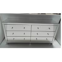 6 Drawers Big Mirrored Cabinet Chest in Mirror Furniture Set Manufactures
