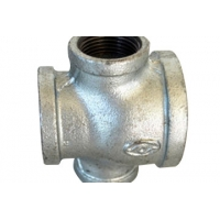 ISO9001 Cross Galvanized Malleable Iron Pipe Fittings Manufactures