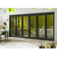 Commercial Aluminium Alloy Bifold Doors 28dB Accordion Durable Manufactures