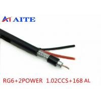 Buy cheap 168AL Braid RG6 Siamese Video with Power Monitor Wire Coaxial with Power CCTV from wholesalers
