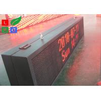 Quality Outdoor Waterproof Programmable LED Moving Sign , 10 mm Pixels Outdoor LED Message Board for sale