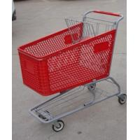 180L Metal Chassis Supermarket Shopping Carts Plastic 1030 x 575 x 1015mm Manufactures