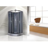 Quality Quadrant Shower Cubicles 900 X 900 X 2250 MM Circle Grey ABS Tray Chrome Profiles for sale