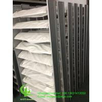 Aluminum sun louver Aerofoil profile aluminum louver with oval shape for facade curtain wall Manufactures