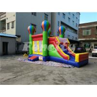 0.55mm PVC Tarpaulin Inflatable Jumping Balloon Castle With Slide For Kids Manufactures