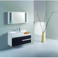 Buy cheap White and black PVC/MDF hanging/floating/wall-mounted bathroom vanity/bathroom cabinet from wholesalers